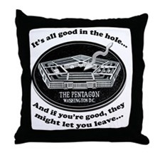 Pentagon_Joke Throw Pillow