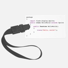 actionscript-helloworld Luggage Tag