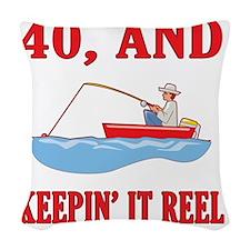 reel40 Woven Throw Pillow