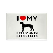 I Love My Ibizan Hound Rectangle Magnet