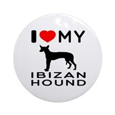I Love My Ibizan Hound Ornament (Round)