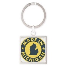 2-Made-In-MICHIGAN Square Keychain
