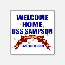 "navy 4 moms Sampson Square Sticker 3"" x 3"""