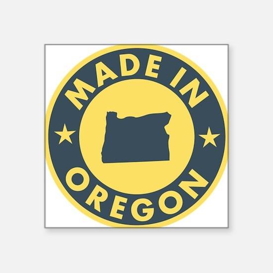 """Made-In-OREGON Square Sticker 3"""" x 3"""""""