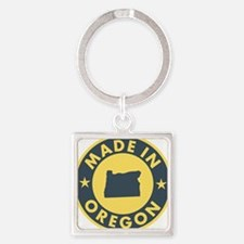 Made-In-OREGON Square Keychain