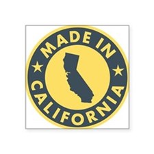 "Made-In-Califotnia Square Sticker 3"" x 3"""