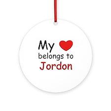 My heart belongs to jordon Ornament (Round)