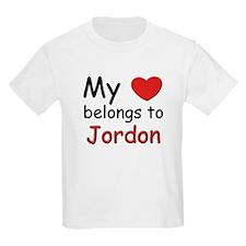 My heart belongs to jordon Kids T-Shirt