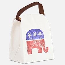 2-RepublicanLogoTexturedGreyBackg Canvas Lunch Bag