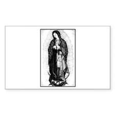 Virgin of Guadalupe Rectangle Decal