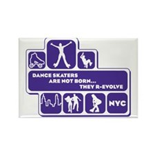 womens_back_shapes_purple Rectangle Magnet
