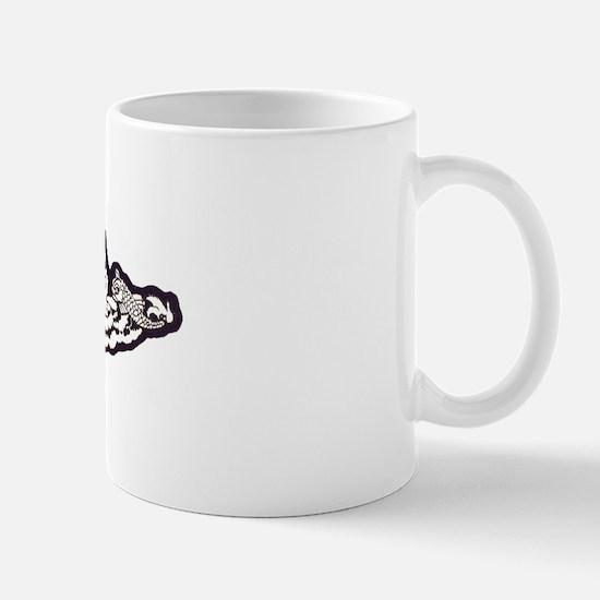 whbates white letters Mug