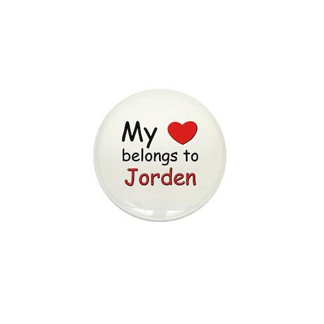 My heart belongs to jorden Mini Button