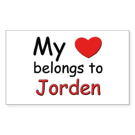 My heart belongs to jorden Rectangle Sticker