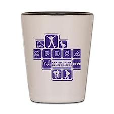 mens_front_shapes_purple Shot Glass