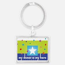 donor hero Landscape Keychain