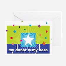 donor hero big Greeting Card
