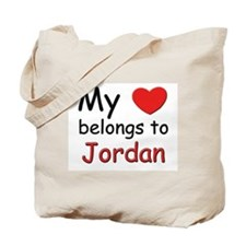My heart belongs to jordan Tote Bag