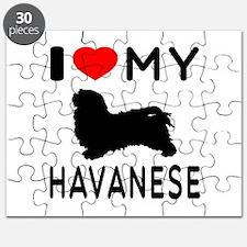 I Love My Havanese Puzzle