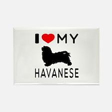 I Love My Havanese Rectangle Magnet