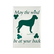 Tosa Inu and Shamrocks Rectangle Magnet