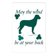Tosa Inu and Shamrocks Postcards (Package of 8)
