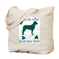 Tosa Inu and Shamrocks Tote Bag