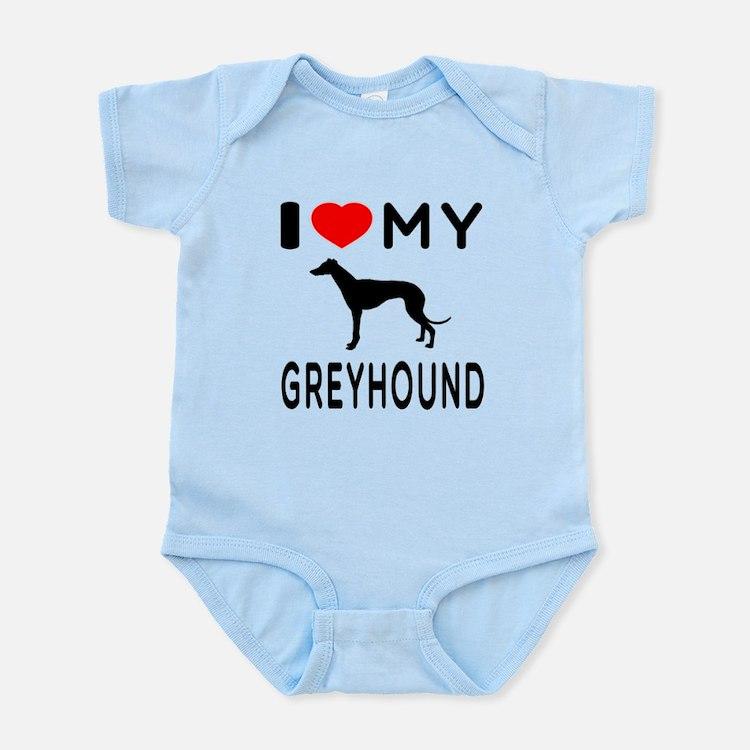 I Love My Greyhound Infant Bodysuit