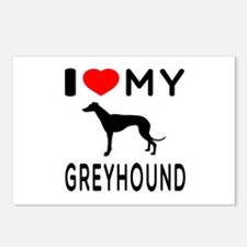I Love My Greyhound Postcards (Package of 8)
