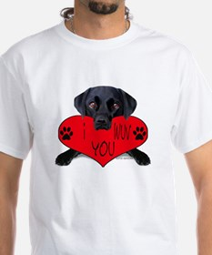Black Lab Valentine Shirt
