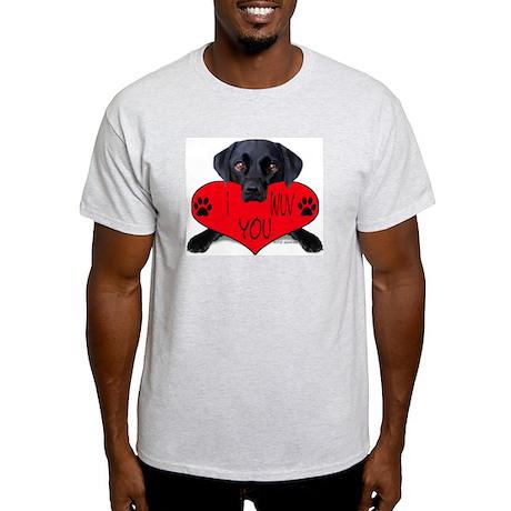 Black Lab Valentine Ash Grey T-Shirt