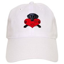 Black Lab Valentine Baseball Cap