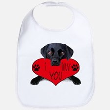Black Lab Valentine Bib