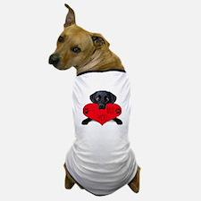 Black Lab Valentine Dog T-Shirt