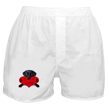 Black Lab Valentine Boxer Shorts