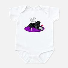 Black Lab Cupid Infant Bodysuit