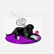 Black Lab Cupid Greeting Cards (Pk of 10)