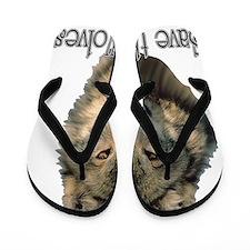 save wolves Flip Flops