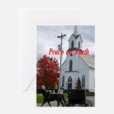 Amish Horse and Buggy Greeting Cards