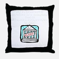 2-privitize dark Throw Pillow