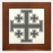 Cross Potent - Jerusalem - Grey-2 Framed Tile