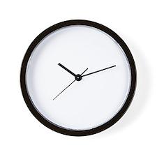 condom_happen_right_BW Wall Clock