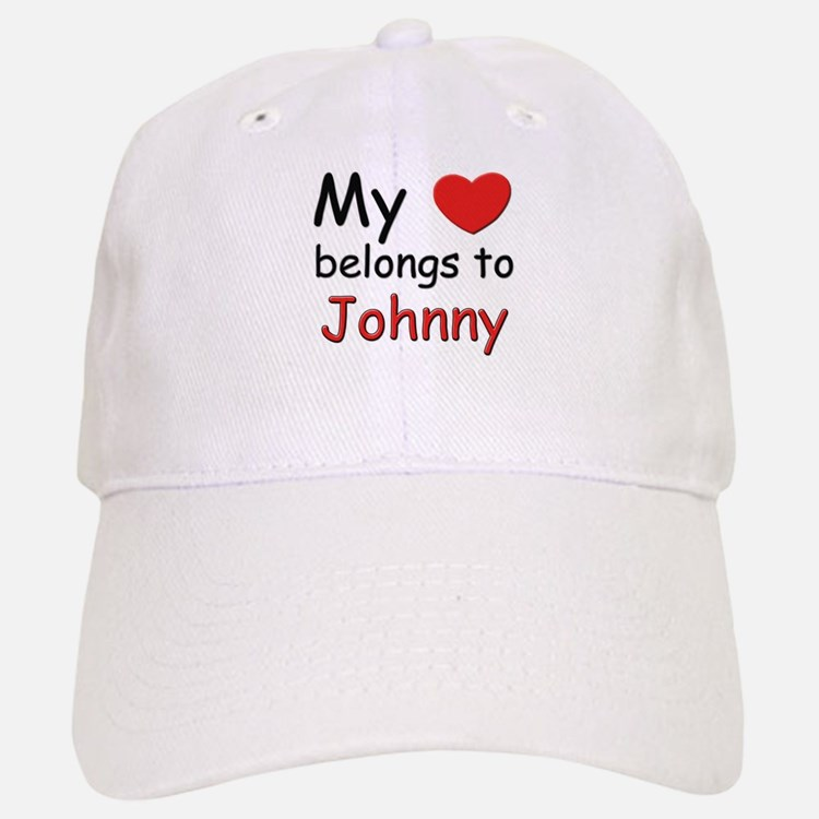 My heart belongs to johnny Baseball Baseball Cap