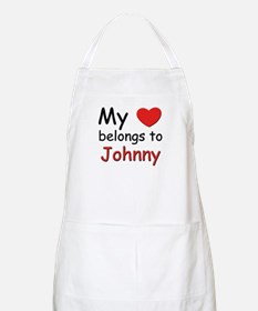 My heart belongs to johnny BBQ Apron