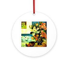 Gauguin - Still Life with Mandolin, Round Ornament