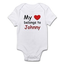 My heart belongs to johnny Infant Bodysuit