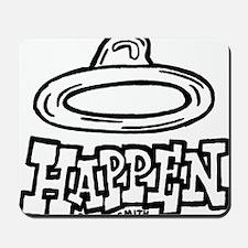 condom_happen_right_BW_green_yellow_shir Mousepad