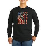 Lineman flag Long Sleeve T-shirts (Dark)