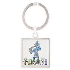 Thoth 3D Square Keychain