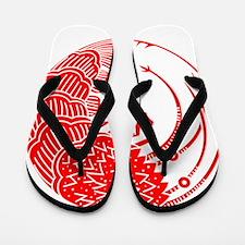 Spiny lobster circle Flip Flops